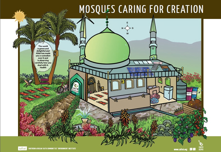 Mosques caring for creation poster