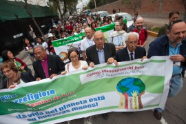 Interfaith Climate March at the start of climate talks in Peru this week
