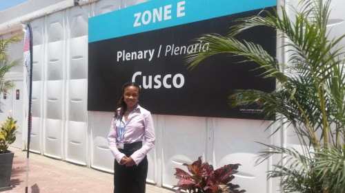 SAFCEI's Lydia Mogano at COP20 climate talks in Lima, Peru
